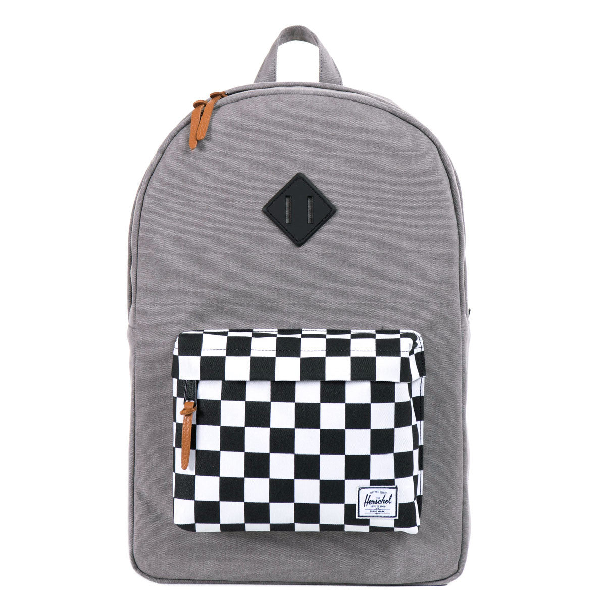 Herschel Supply Co.: Heritage Backpack - Washed Black / Checkerboard front