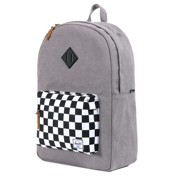 Herschel Supply Co.: Heritage Backpack - Washed Black / Checkerboard