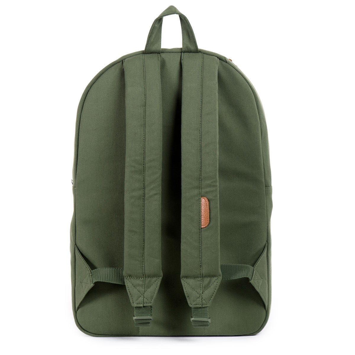 Herschel Supply Co.: Heritage Backpack - Army Coated Cotton Canvas / Indigo Denim (Select Series) back