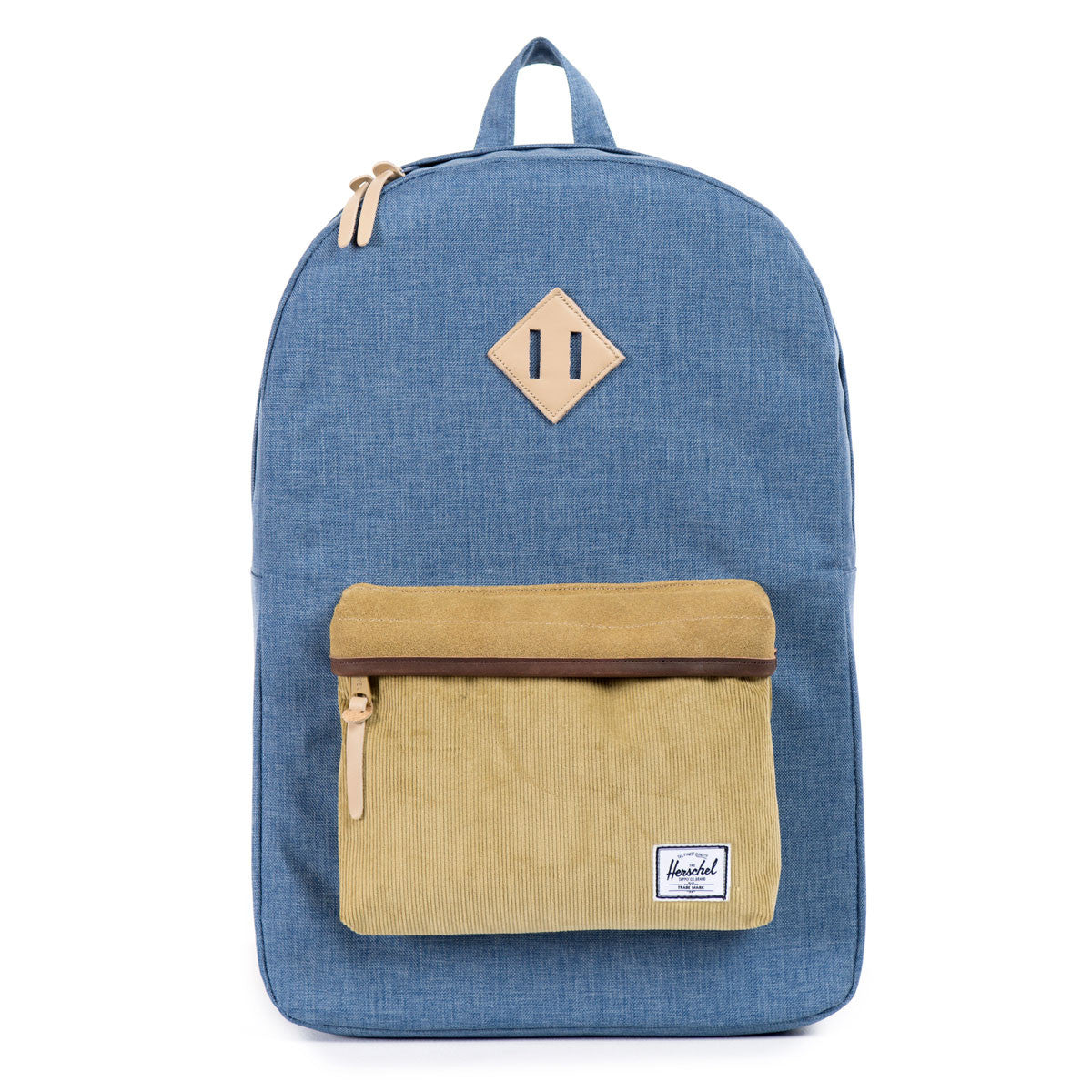 Herschel Supply Co.: Heritage Backpack - Navy / Straw Crosshatch (Ranch) front