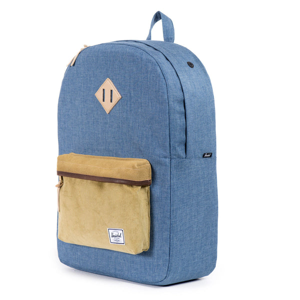 Herschel Supply Co.: Heritage Backpack - Navy / Straw Crosshatch (Ranch)