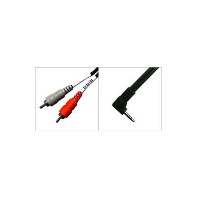 Hosa: Dual RCA (Male) to Right Angled 3.5mm (Male) Cable, 3ft (CMR-203R)