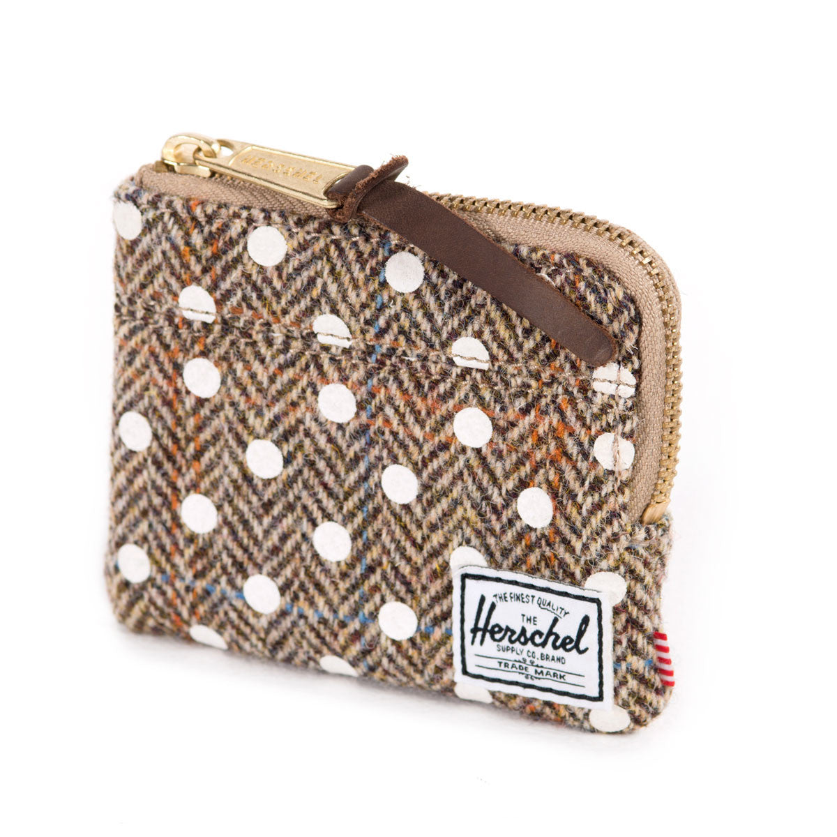 Herschel Supply Co.: Johnny Wallet - Harris Tweed / White Polka Dot