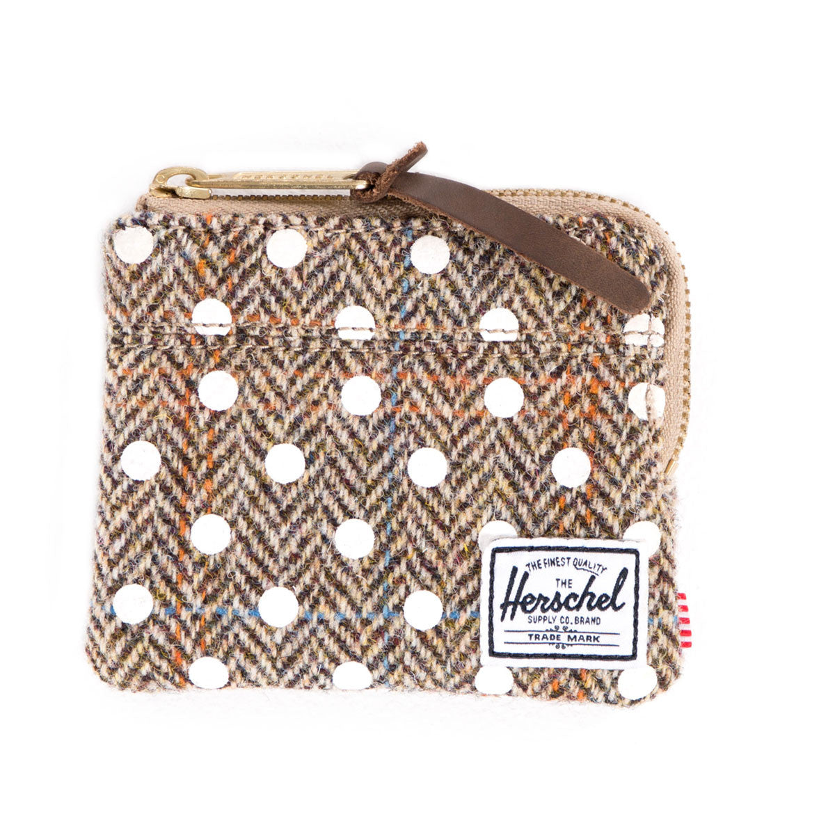 Herschel Supply Co.: Johnny Wallet - Harris Tweed / White Polka Dot flat