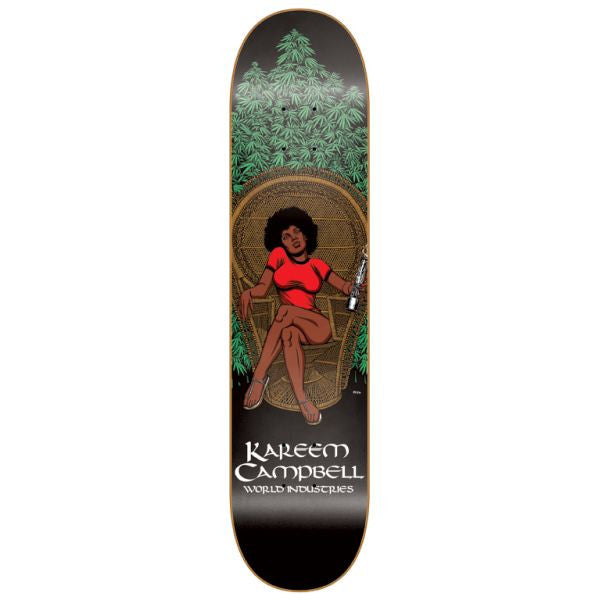 "World Industries: Kareem Campbell Mary Jane Skateboard Deck (7.62"")"