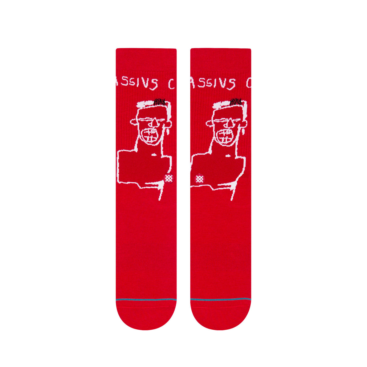 Stance: Basquiat Cassius Socks - Red