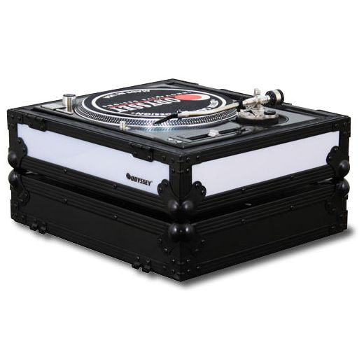 Odyssey: Flight FX2 Series Battle Position Turntable Flight Case w/ Front & Right Side LED Panels (FFX2RBM1200BL)