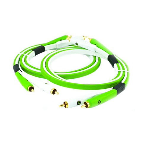 Oyaide: NEO Class B RCA Cables, DUO 1.0m - Green (Matching Pair)