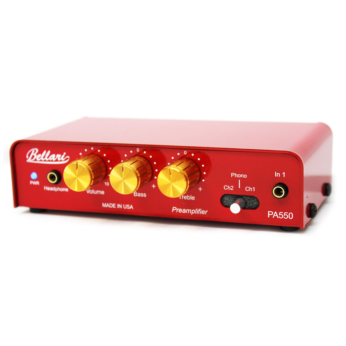 Bellari: PA550 Phono Preamp + Headphone Amp w/ 3 Channels + Tone Control