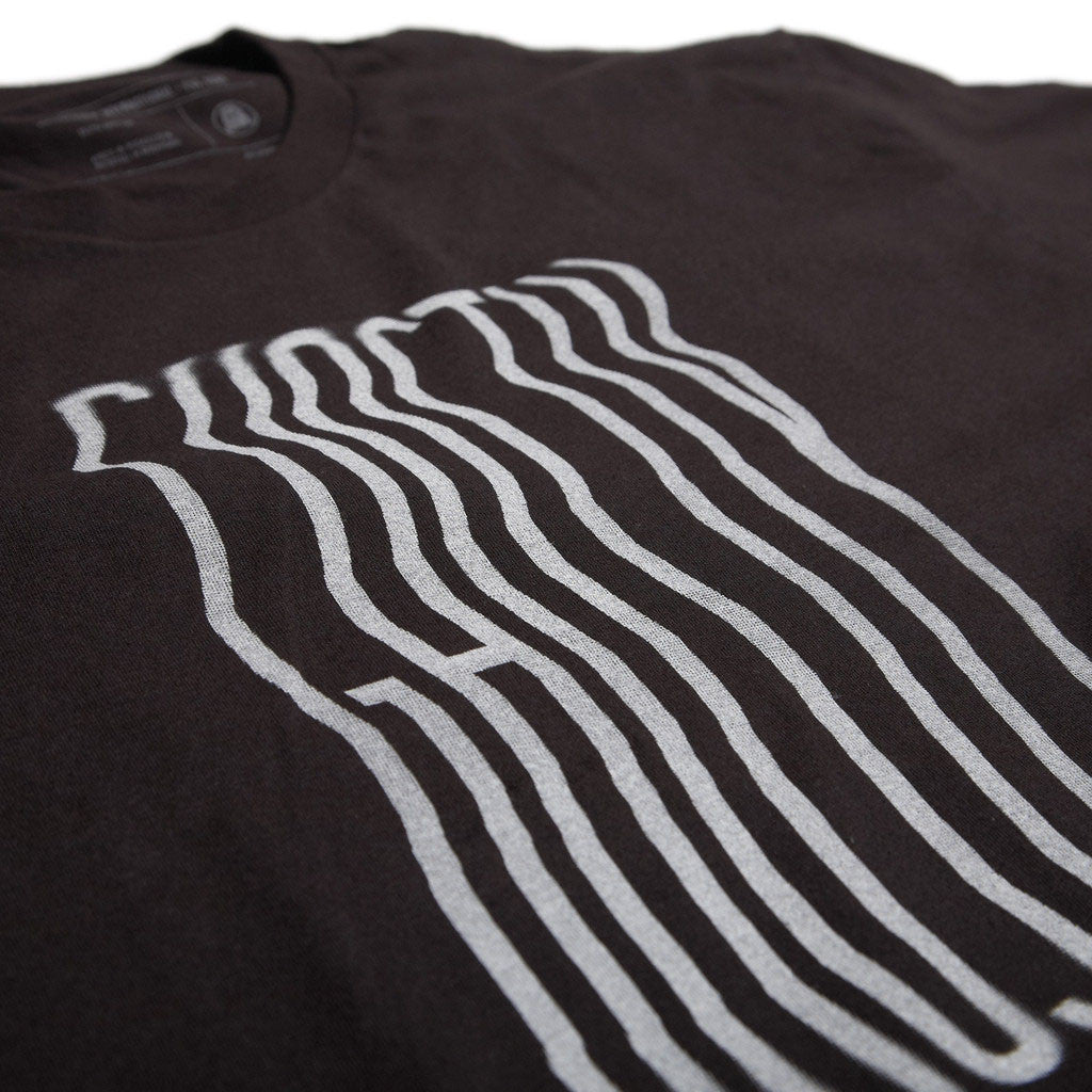 Ghostly International: Ripple Text Shirt - Black