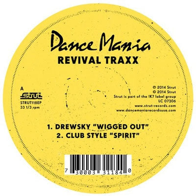 "Strut Records: Dance Mania: Revival Traxx Vinyl 12"" (Record Store Day 2014)"