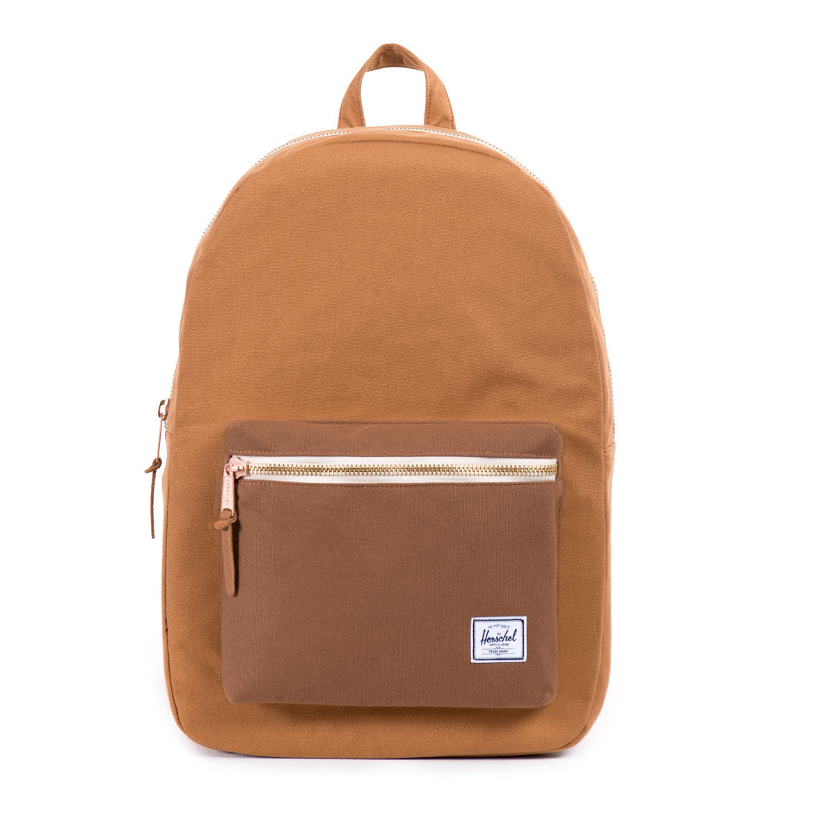 Herschel Supply Co.: Settlement Backpack - Caramel Coated Cotton Canvas (Select Series) front