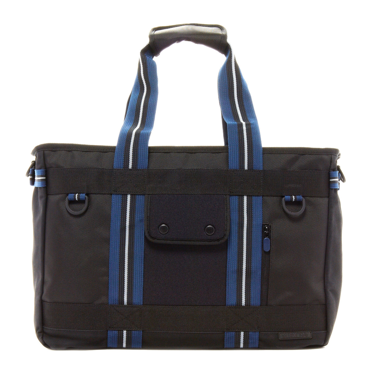 Lexdray: Shanghai Tote - Black / Navy (14103-BN-NT) back