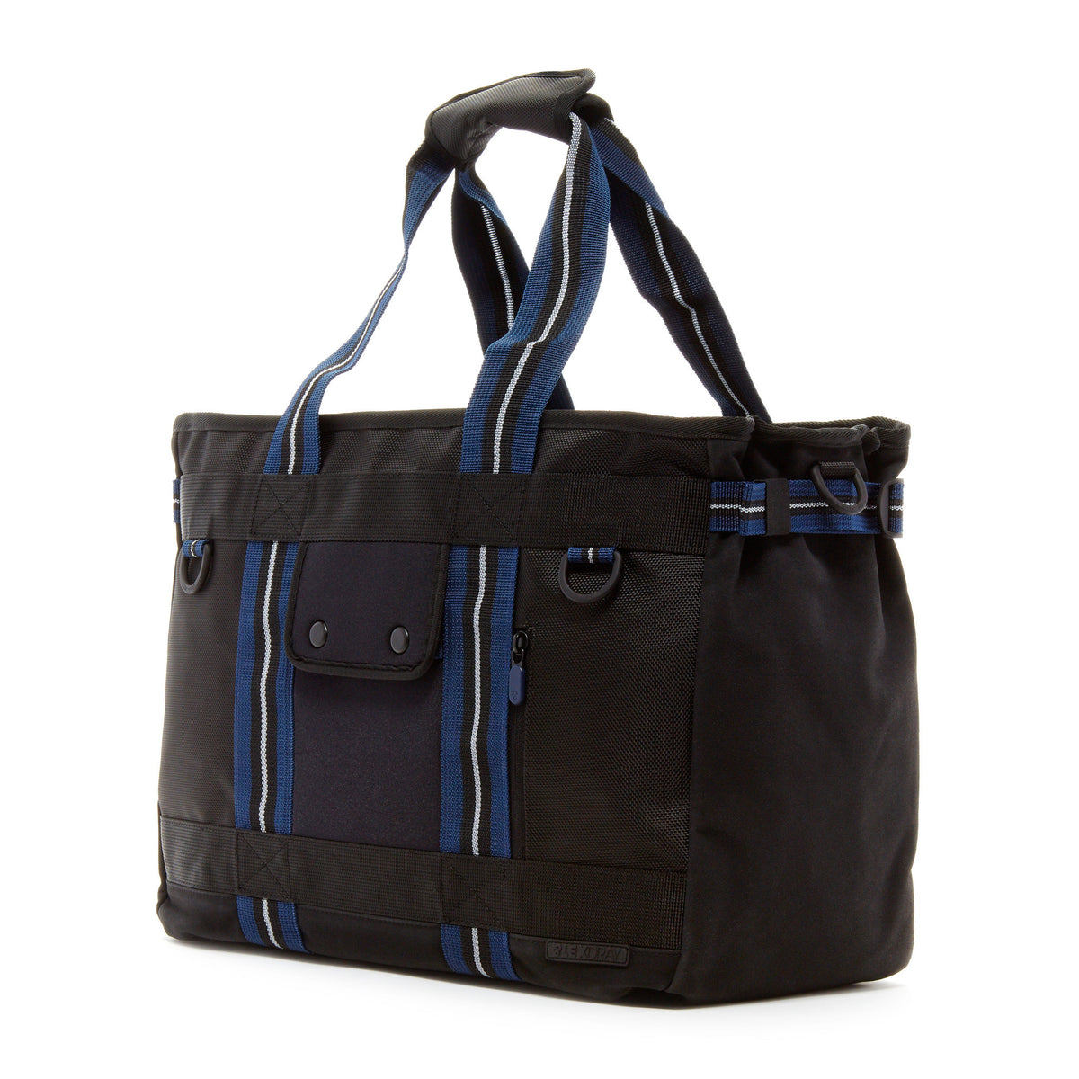 Lexdray: Shanghai Tote - Black / Navy (14103-BN-NT)