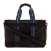 Lexdray: Shanghai Tote - Black / Navy (14103-BN-NT) back strap