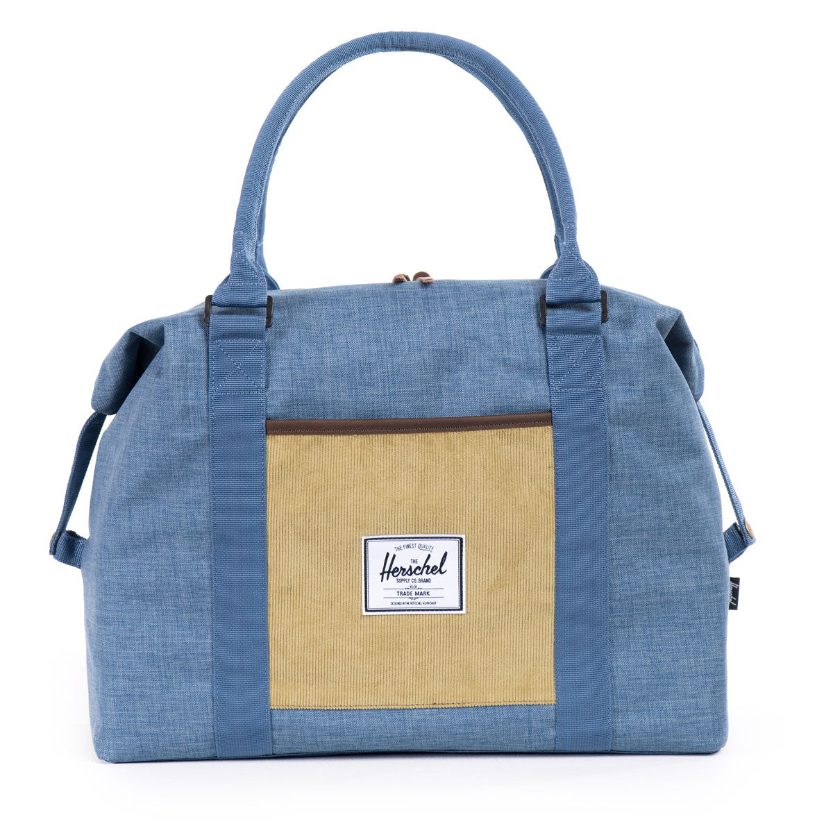 Herschel Supply Co.: Strand Duffle Bag - Navy / Straw Crosshatch front