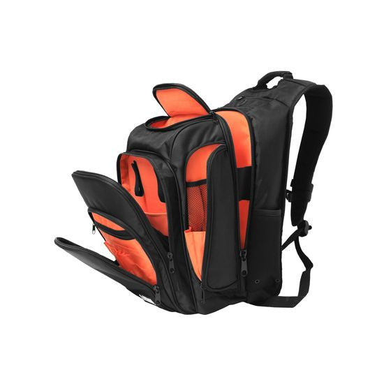 UDG: Digi Backpack - Black / Orange (U9101BL/OR) open inside