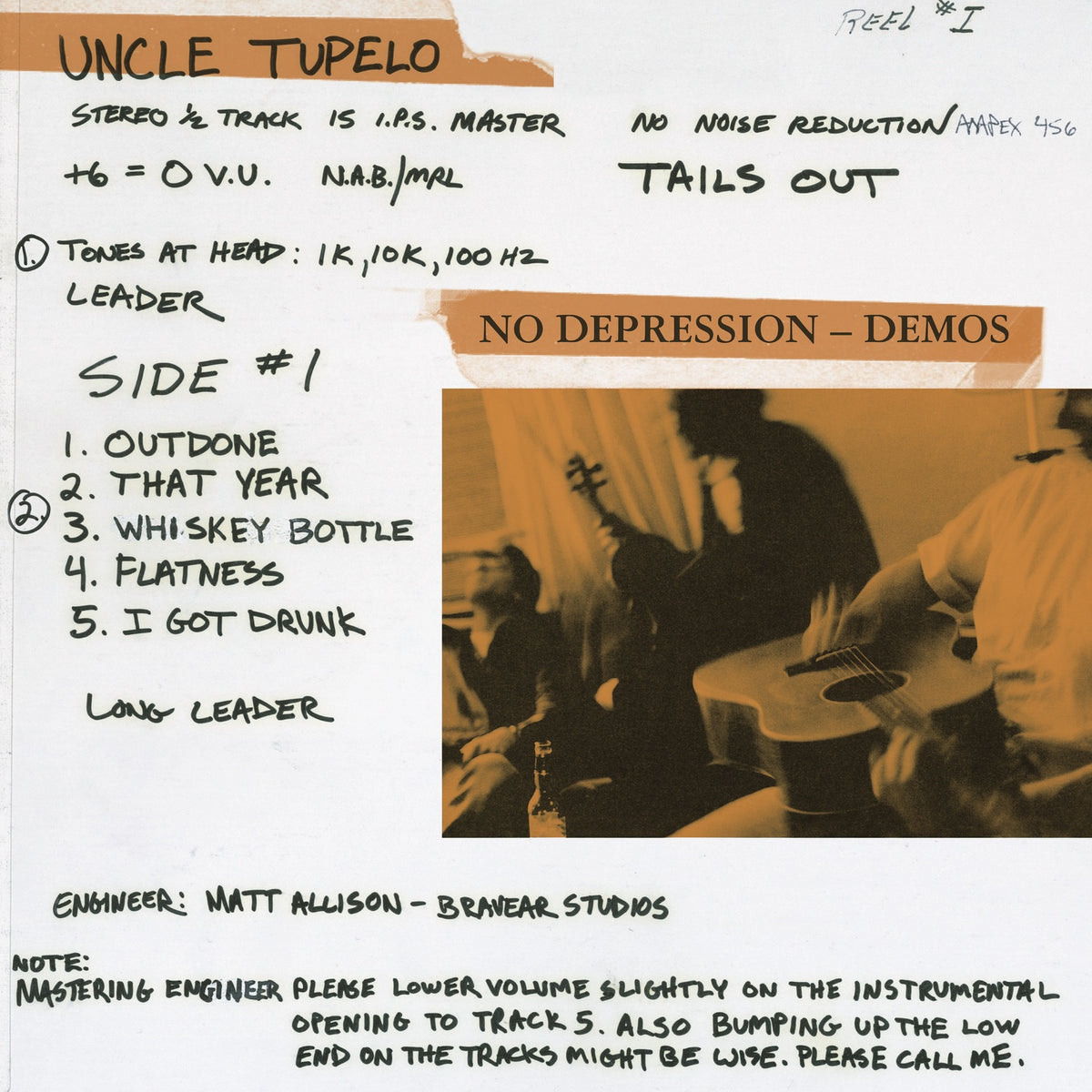 Uncle Tupelo: No Depression - Rarities Vinyl LP (Record Store Day)