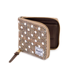 Herschel Supply Co.: Walt Wallet - Harris Tweed / White Polka Dot