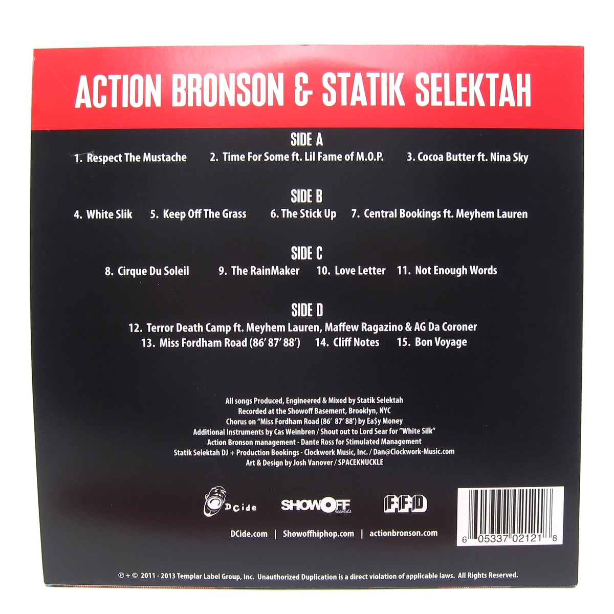 Action Bronson & Statik Selektah: Well Done (Colored Vinyl) Vinyl 2LP