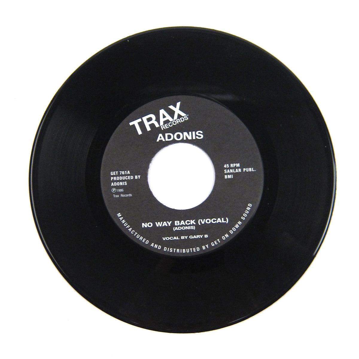 Adonis: No Way Back Vinyl 7""