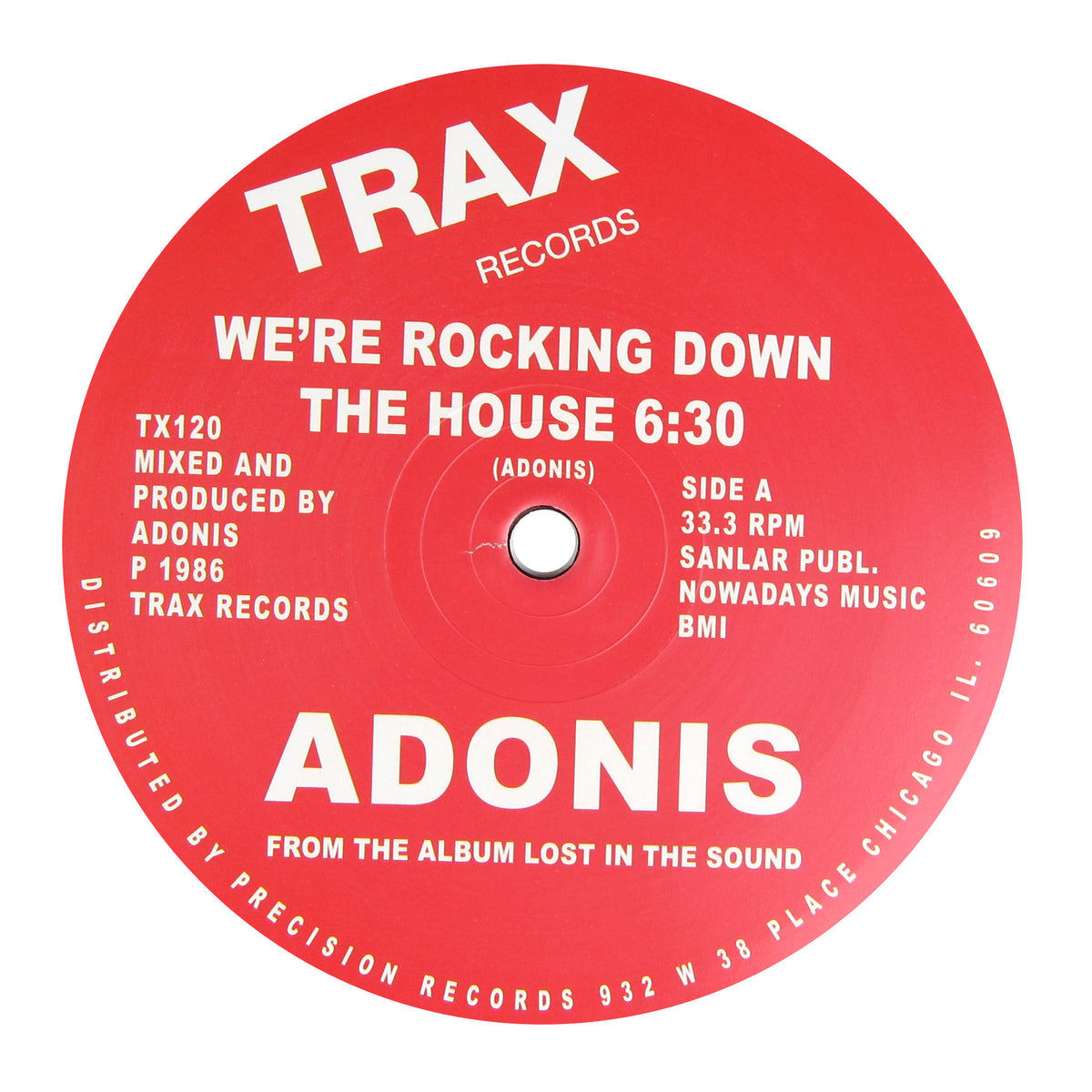 Adonis: We're Rocking Down The House Vinyl 12""