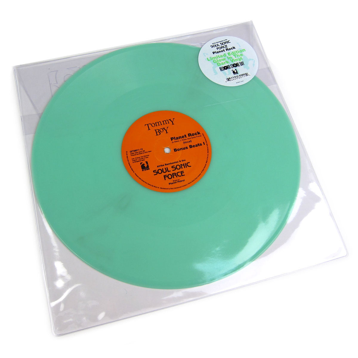 "Afrika Bambaataa & The Soul Sonic Force : Planet Rock (Glow In The Dark Vinyl) Vinyl 12"" (Record Store Day)"