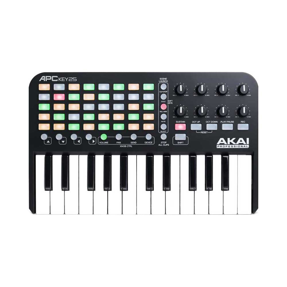 Akai: APC Key 25 Ableton Live Controller with Keyboard top