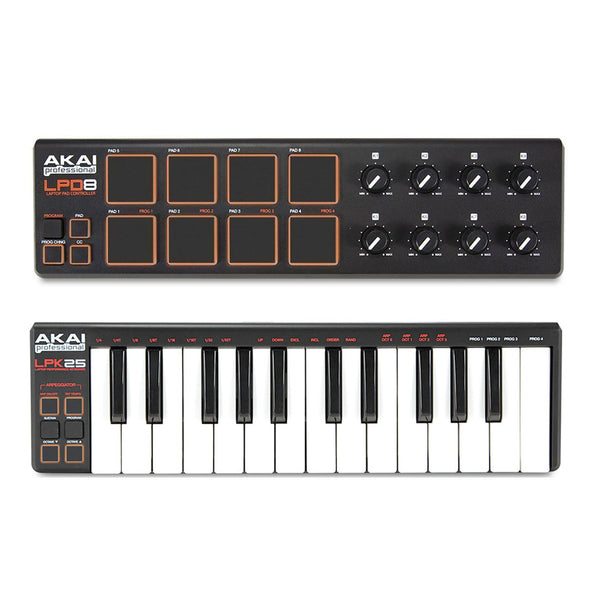 Akai: LPD8 / LPK25 Laptop Controller Bundle
