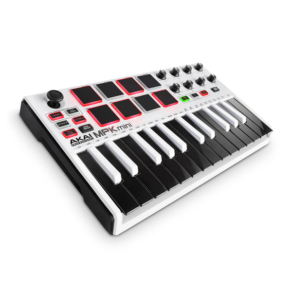 Akai: MPK Mini MK II Compact Keyboard and Pad Controller - White