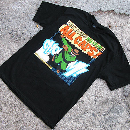 Stones Throw: Madvillain All Caps Shirt - Black