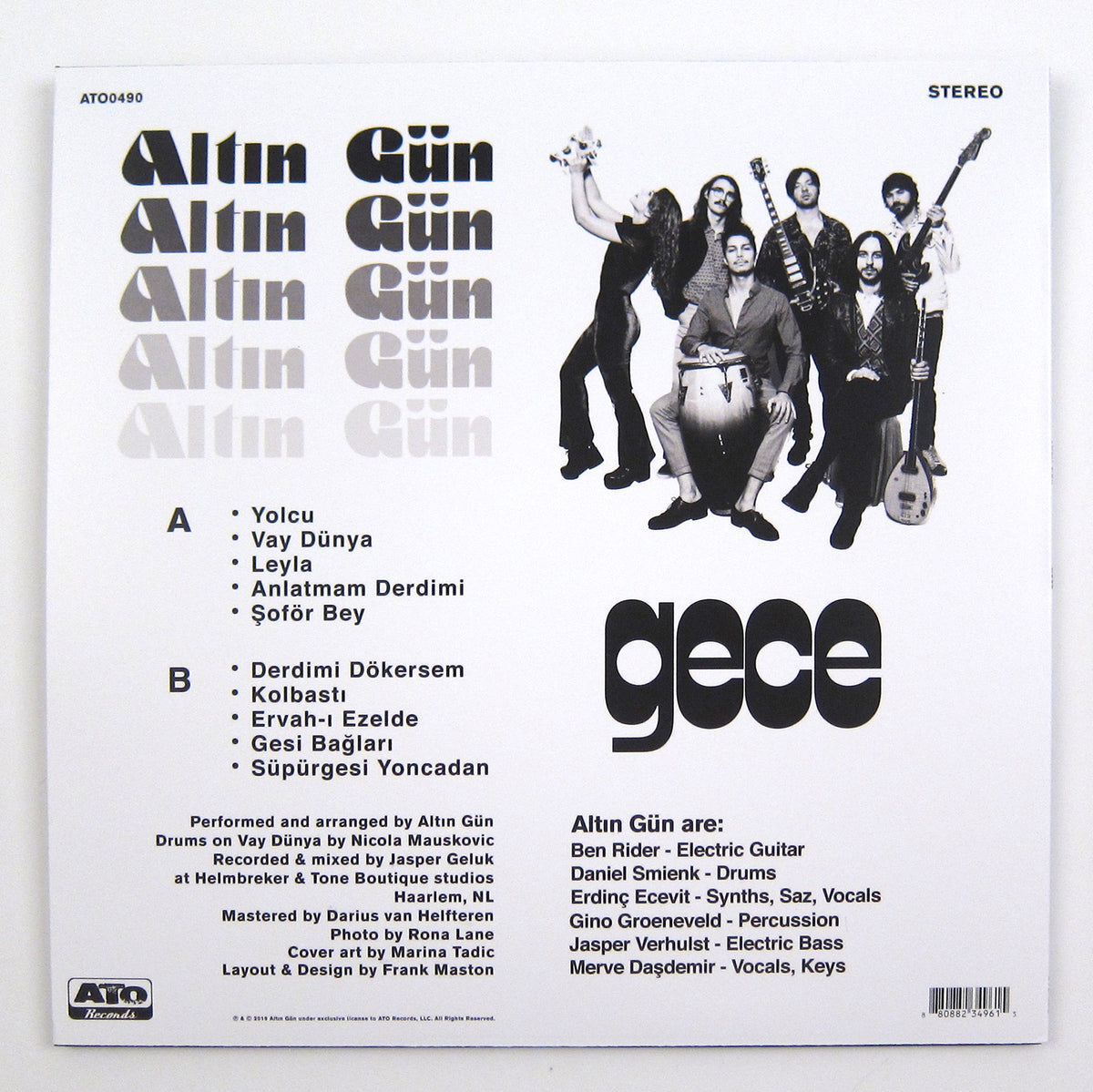 Altin Gun: Gece (Indie Exclusive Colored Vinyl) Vinyl LP
