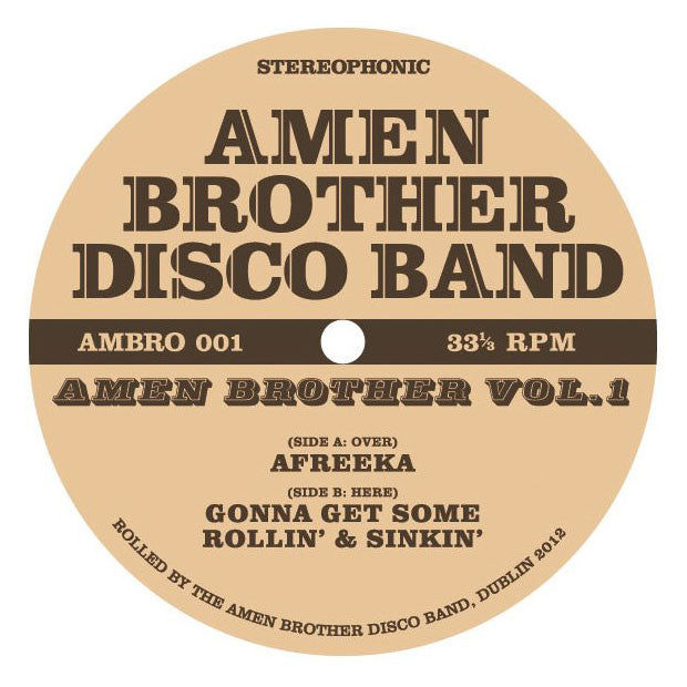Amen Brother Disco Band: Volume 1 12""