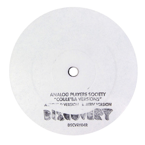 Analog Players Society: Coule'Ba Versions (Move D, Jkriv) Vinyl 12""