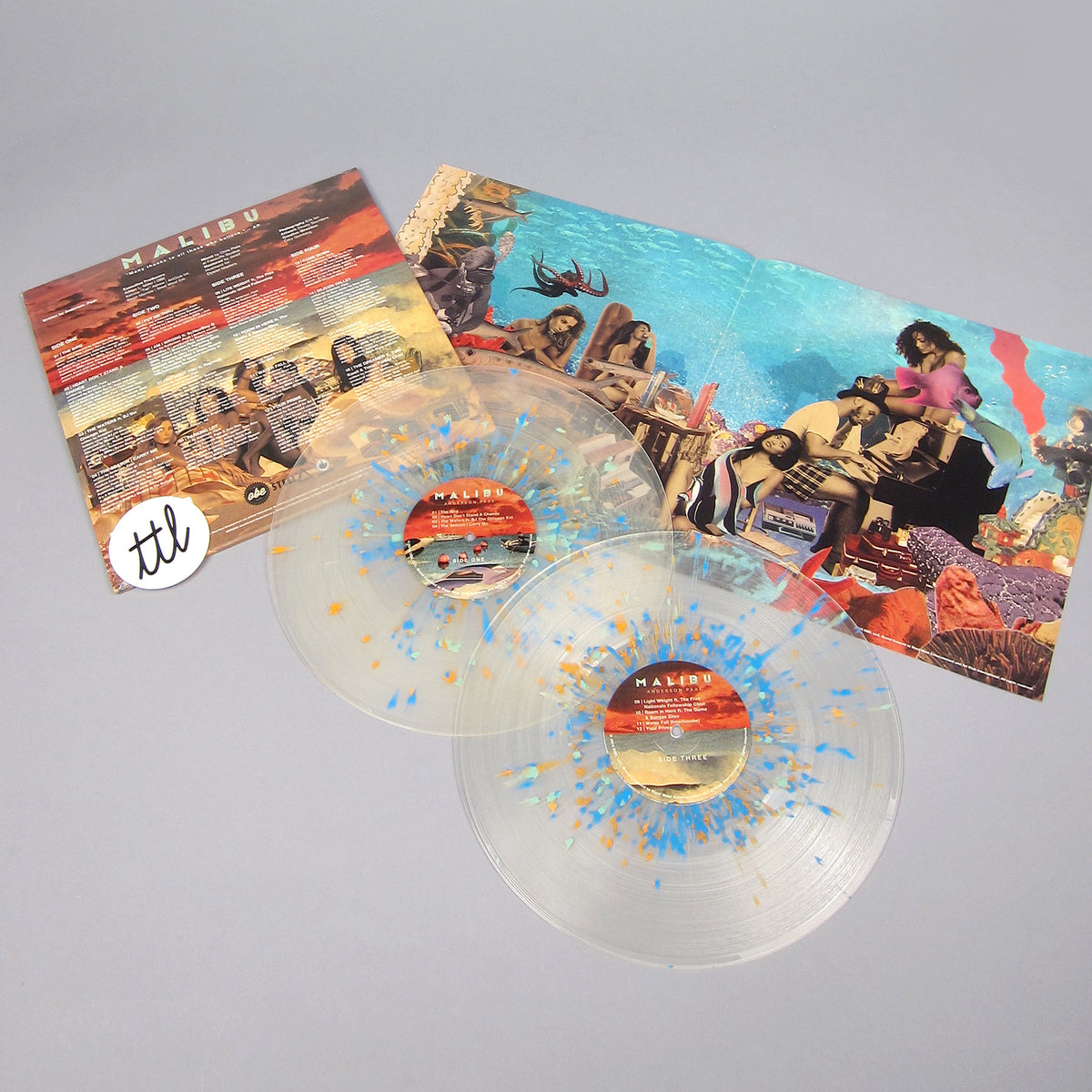 Anderson .Paak: Malibu (Clear Splatter Colored Vinyl) Vinyl 2LP - Turntable Lab Exclusive