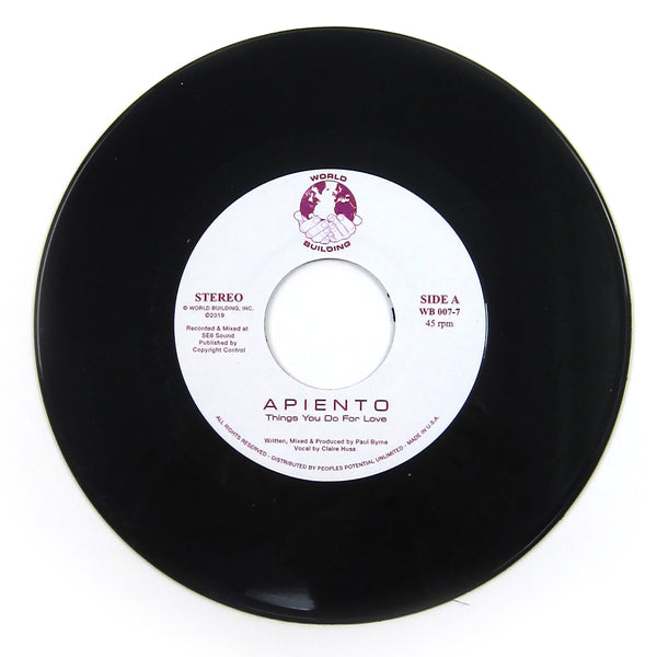 Apiento: Things You Do For Love Vinyl 7""