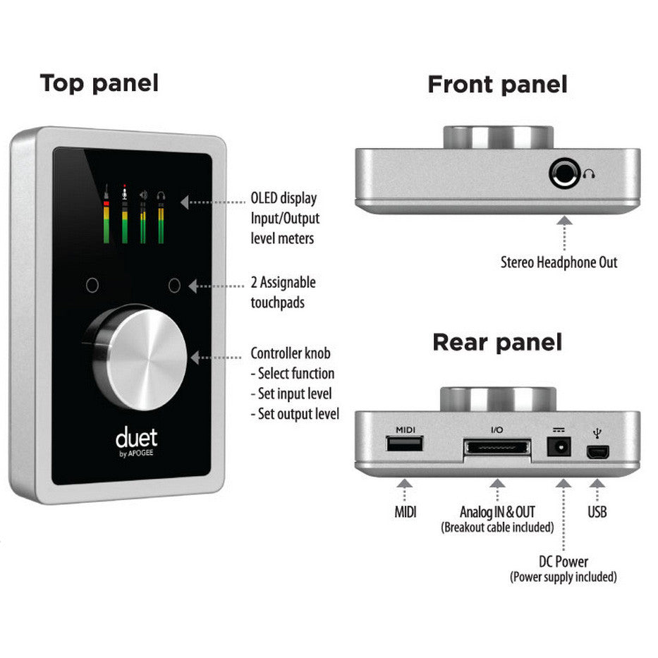 Apogee: Duet for iPad & Mac - Callouts