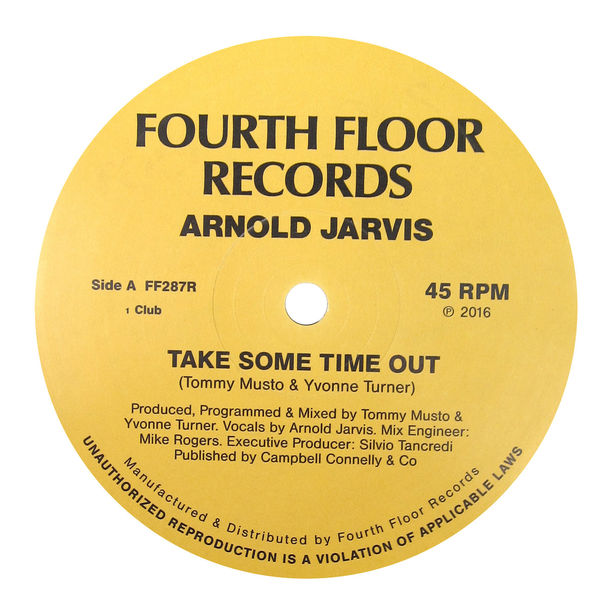 Arnold Jarvis: Take Some Time Out (Ilija Rudman Remix) Vinyl 12""