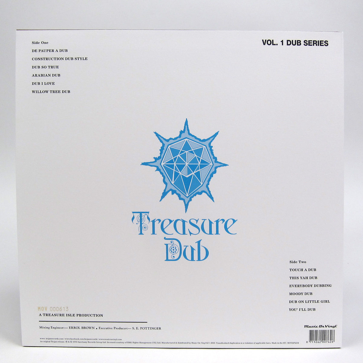 "Arthur ""Duke"" Reid: Treasure Dub Vol.1 (Music On Vinyl 180g, Colored Vinyl) Vinyl LP"