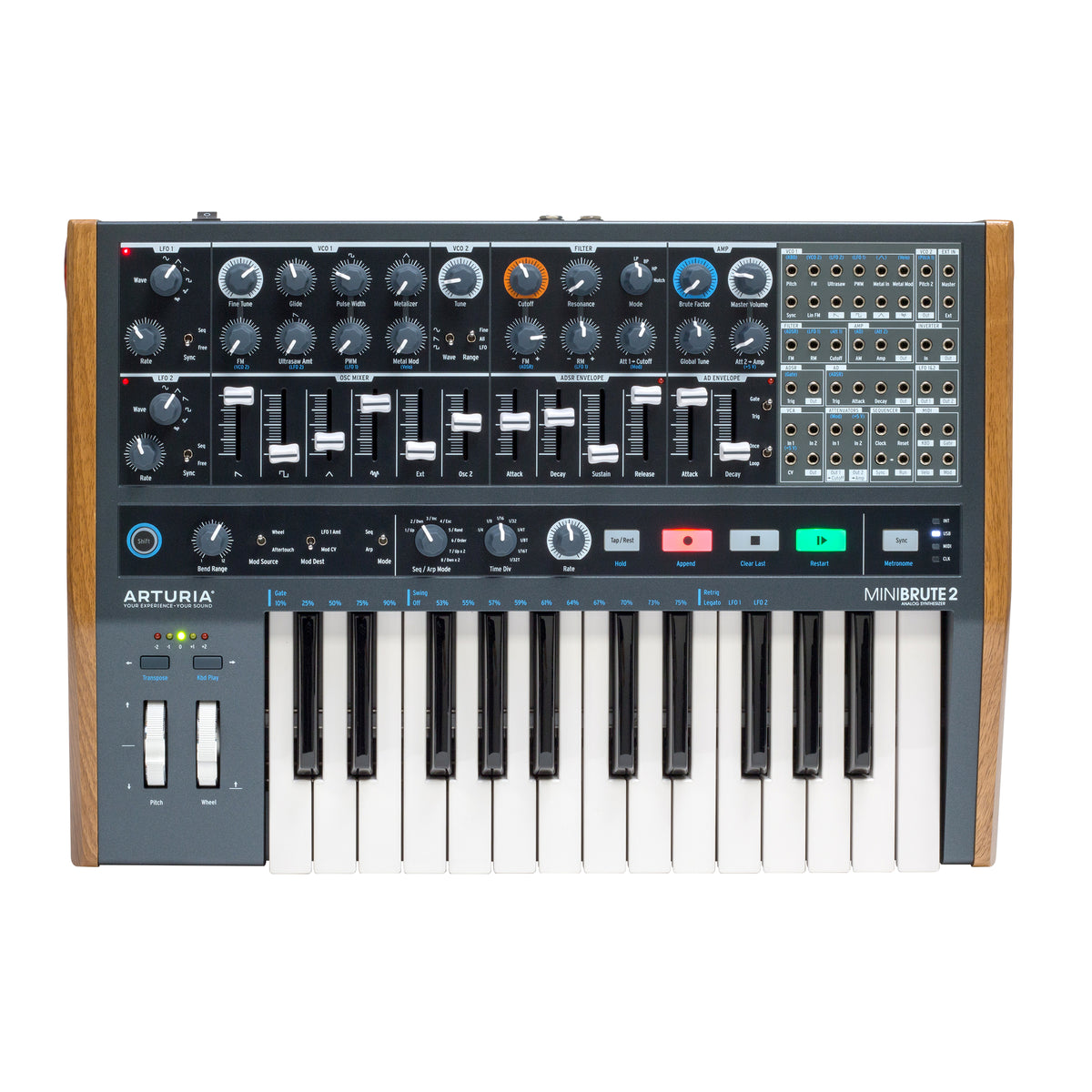 arturia minibrute2 semi modular synthesizer. Black Bedroom Furniture Sets. Home Design Ideas