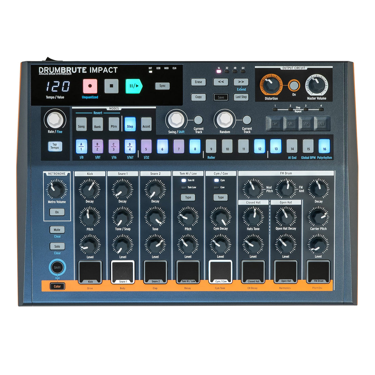 Arturia: DrumBrute Impact Analog Drum Machine + Sequencer