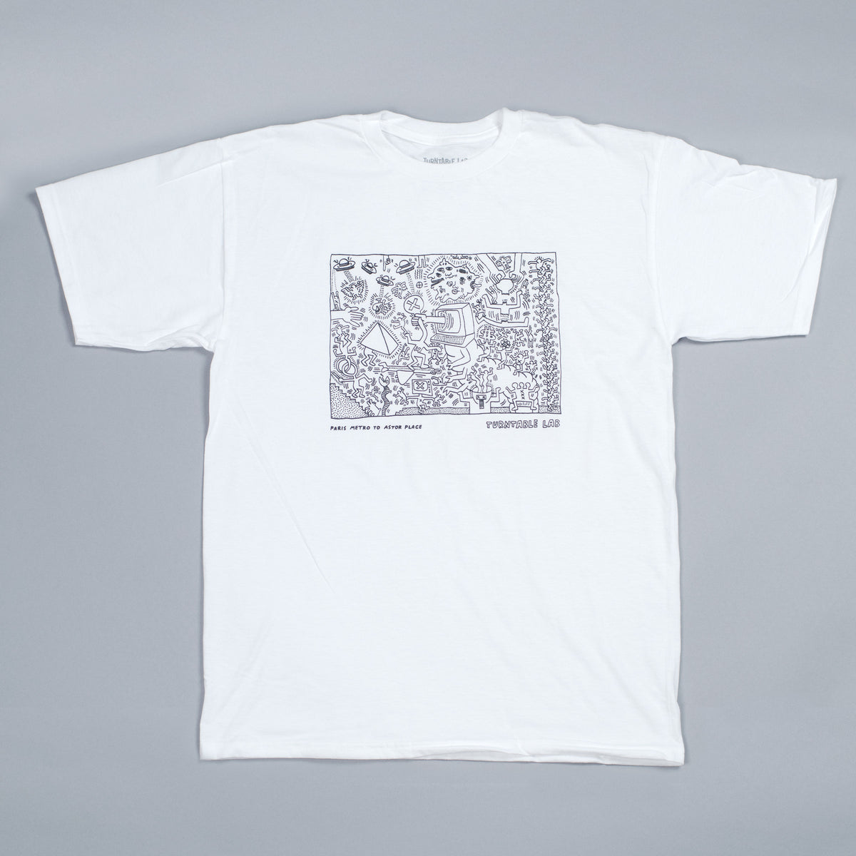 Turntable Lab: Keith Haring Astor Place Shirt - White