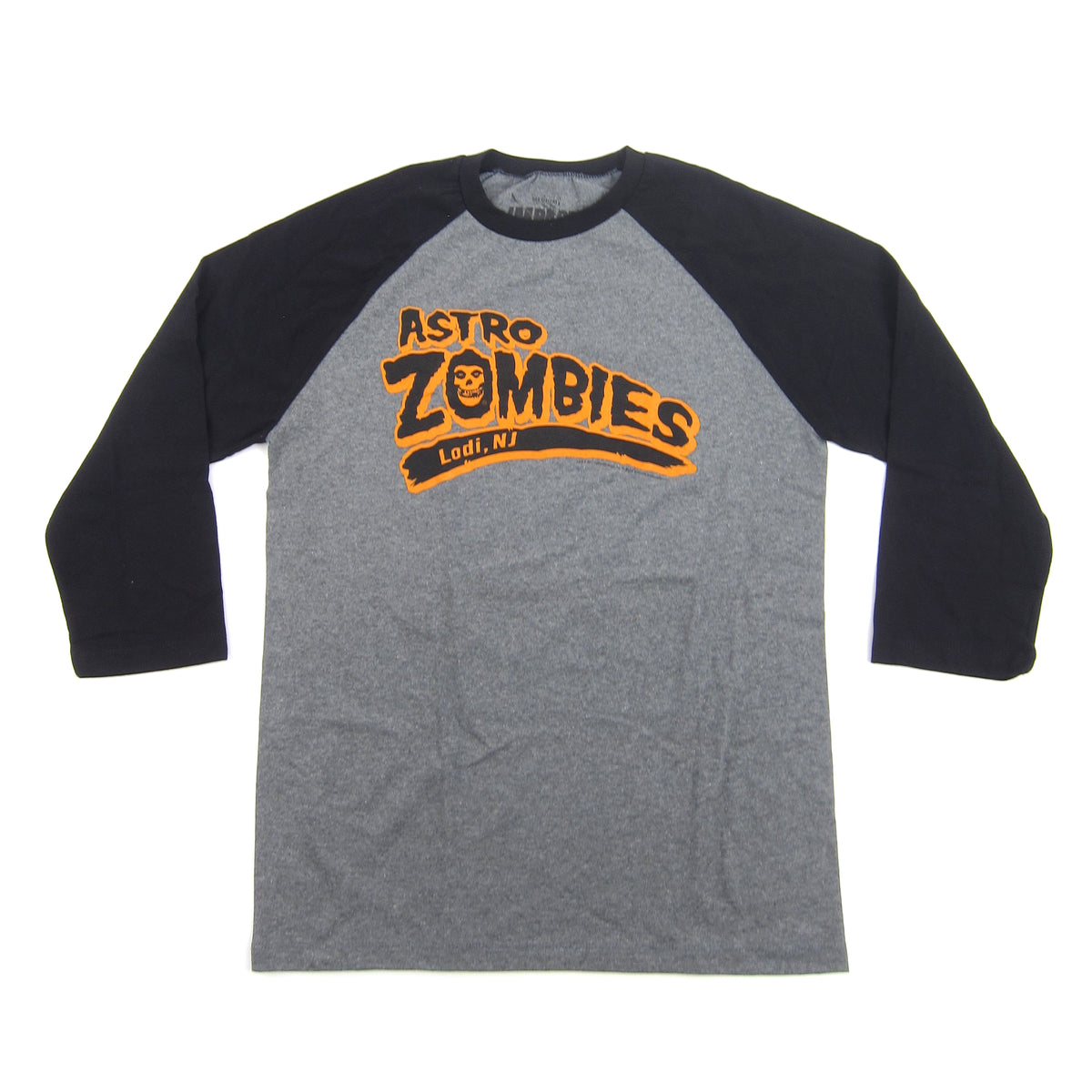 Misfits: Astro Zombies Baseball Jersey - Heather / Black