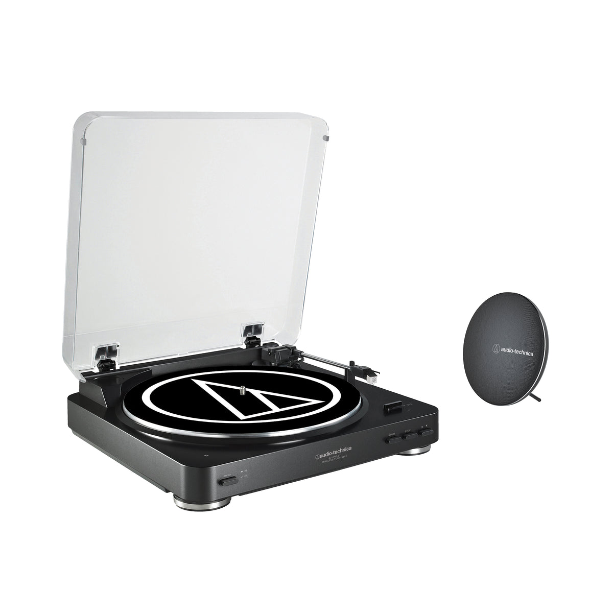 Audio-Technica: AT-LP60SPBT-BK Wireless Turntable & Speaker Bundle - Black (AT-LP60BK-BT, AT-SP60BT-BK)
