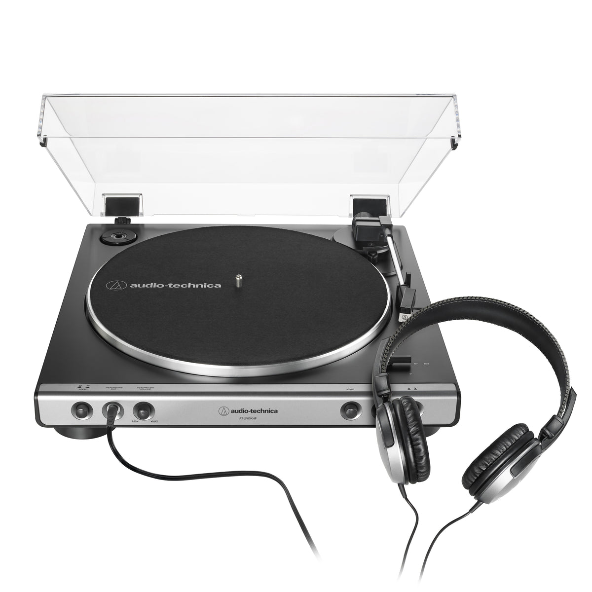 Audio Technica: AT-LP60XHP-GM Automatic Turntable w/ Headphones - Gunmetal / Black