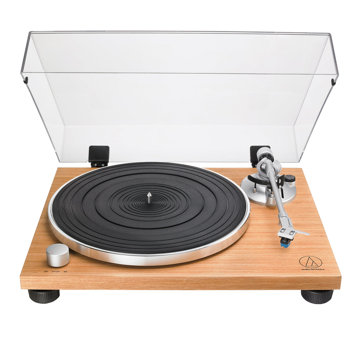 Audio Technica: AT-LPW30TK Manual Belt Drive Turntable - Teak