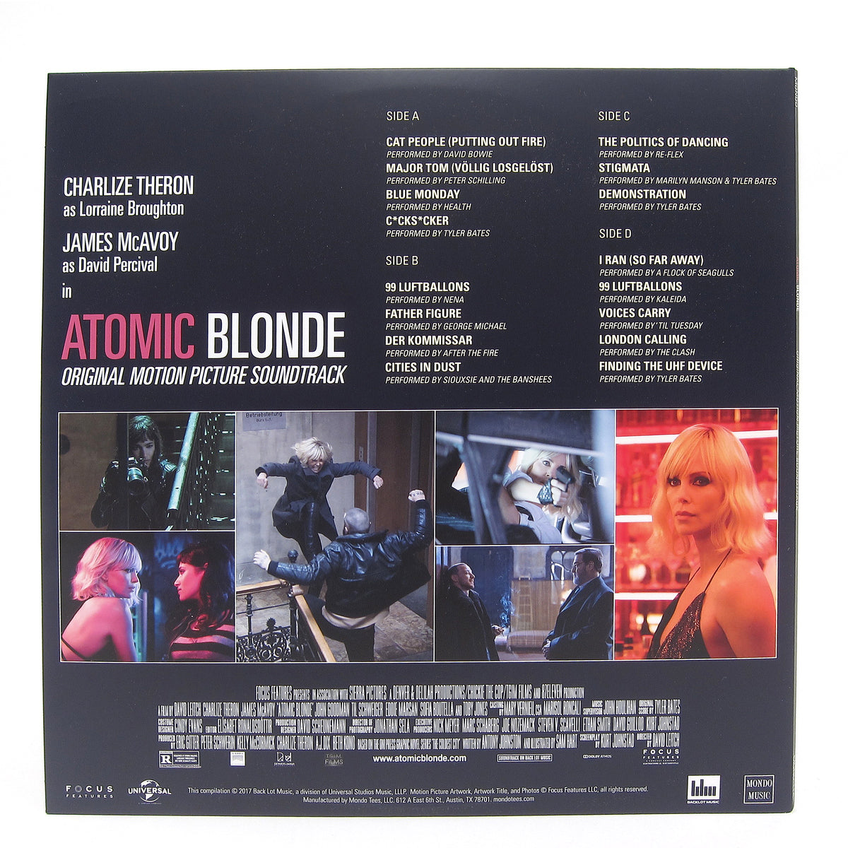 Atomic Blonde: Atomic Blonde Soundtrack (Colored Vinyl) Vinyl 2LP