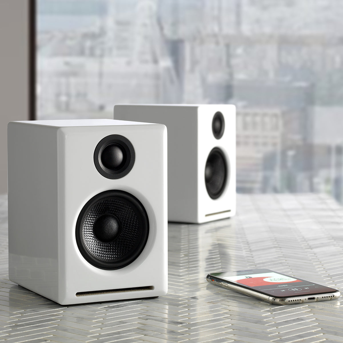 Audioengine: A2+ Powered Desktop Speakers w/Bluetooth - White (A2+BT-WHT)