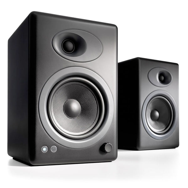 Audioengine: A5+ Powered Bookshelf Speaker System - Black (A5+B)