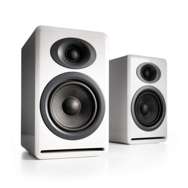 Audioengine: P4 Passive Bookshelf Speakers - White (AP4W)